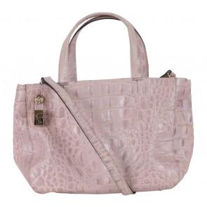 Furla Cream Croco Shoulder Bag