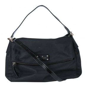 Kate Spade Black Folded Zipper Sling Bag