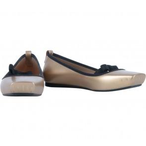 Melissa Gold Ballet Bow Flats