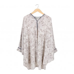 Meisje by Tantri Cream FLoral Loose Blouse