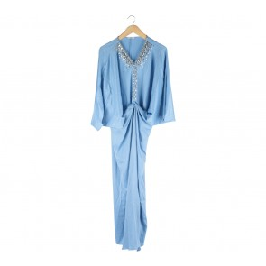 AVA Blue Caftan Long Dress