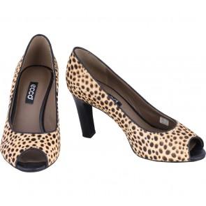 Ecco Brown Leopard Heels