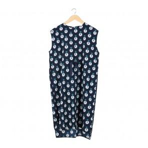 Eloise Dark Blue Midi Dress