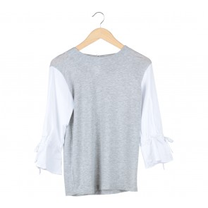 Kivee Grey And White Blouse