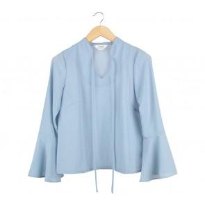 Impromptu Blue Bell Sleeves Blouse