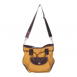 Lancel Yellow And Brown Satchel