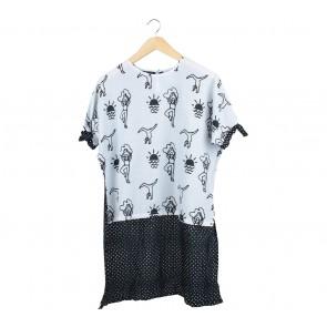 Noki Black And White Patterned Blouse