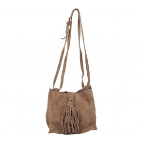 Zara Brown Fringe Shoulder Bag