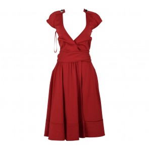 Diane Von Furstenberg Red Wrap Midi Dress