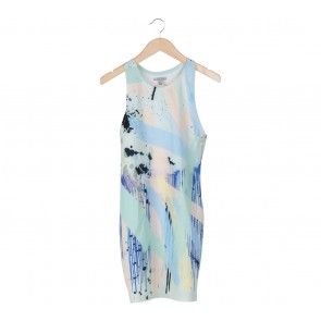 Zara Multi Colour Abstract Sleeveless Midi Dress