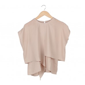 Cotton Ink Beige Layered Blouse