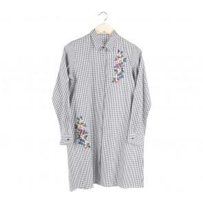 Cotton Ink Black And White Plaid Valyn Mini Dress