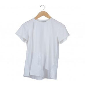 Cotton Ink Off White And White Combi T-Shirt