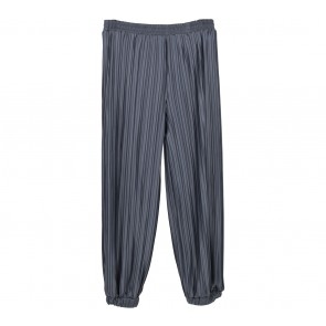 Dot Dtails Dark Grey Pleated Pants