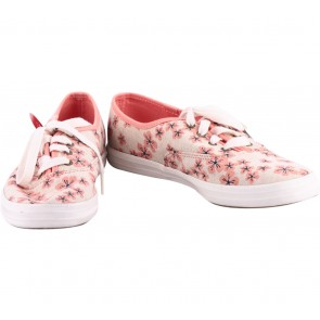 Keds White And Pink Floral Sneakers
