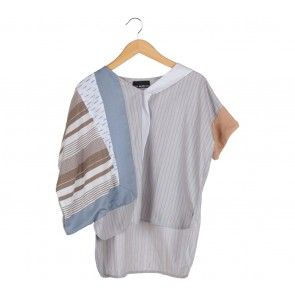 Oline Workrobe Multi Colour Striped Loose Blouse