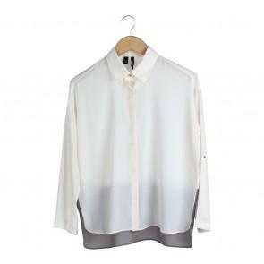 Mango Off White And Grey Shirt