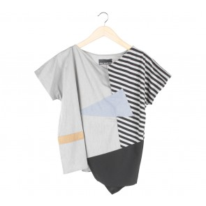 Oline Workrobe Grey Just a Top Blouse