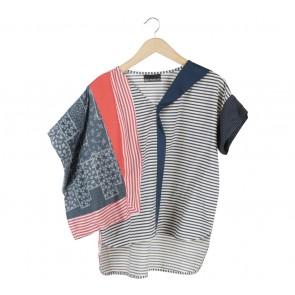 Oline Workrobe Multi Colour Striped Blouse