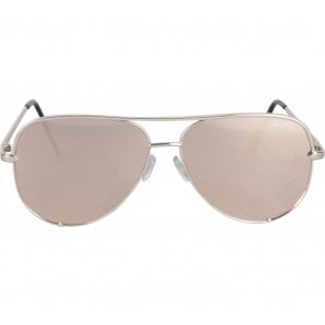 Quay Australia  X Desi FLat Len Rose Gold High Key Sunglasses