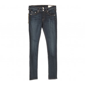 Rag & Bone Dark Blue Woodford Skinny Pants
