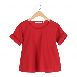 UNIQLO Red Blouse