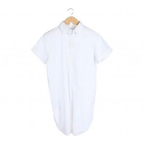 Schon Couture White Shirt Mini Dress
