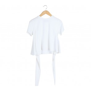 Cotton Ink White Tied T-Shirt