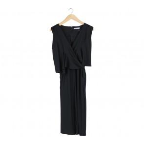 Chic Simple Black Wrap Jumpsuit