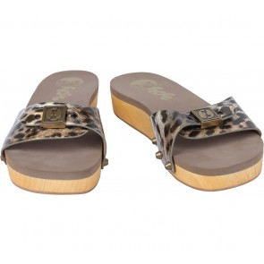 Flogg Multi Colour Leopard Sandals