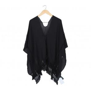 H&M Black Sheer Insert Outerwear