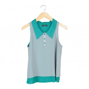 Iora Green And Grey Sleeveless