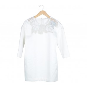 Lily Off White Sheer Insert Mini Dress