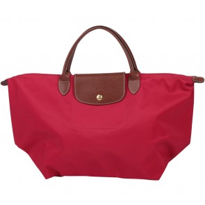 Longchamp Red Le Pliage Depose Type M  Handbag