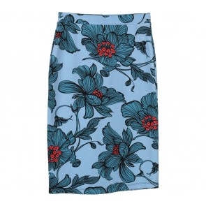 Luxe Blue Floral Skirt