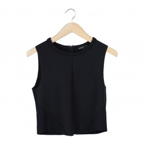Mango Black Cropped Sleeveless