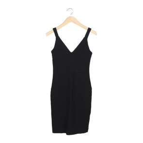 Mango Black Sleeveless Mini Dress