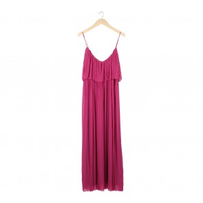 Mango Pink Pleated Long Dress