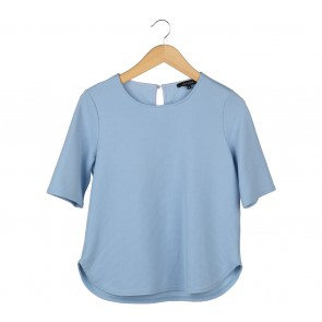 New Look Blue Textured Blouse