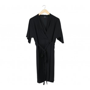 Star by Julienmacdonald Black Wrap Midi Dress