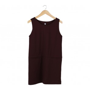 UNIQLO Maroon Sleeveless Mini Dress