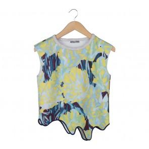 Zara Multi Colour Abstract Asymmetric Sleeveless