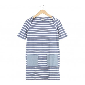 GAP Blue And White Striped Mini Dress