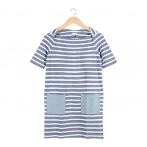 GAP Blue And White Striped Mini Dress