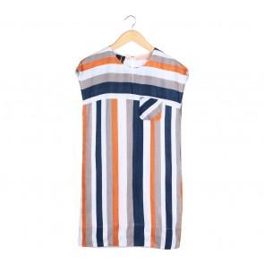Mango Multi Colour Striped Mini Dress