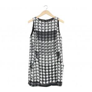 Zara Cream And Black Mini Dress