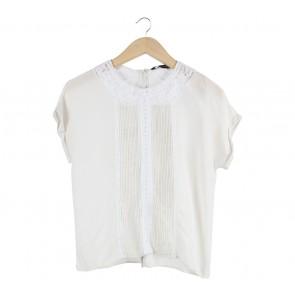 Zara Off White Sleeveless