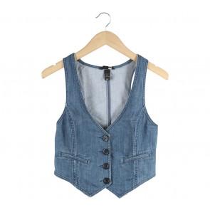 H&M Blue Denim Sleeveless