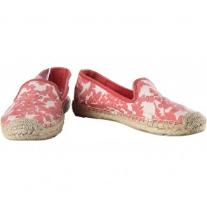 Tory Burch Red Floral Flats
