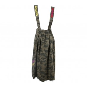 Zara Green Army patched Skirt